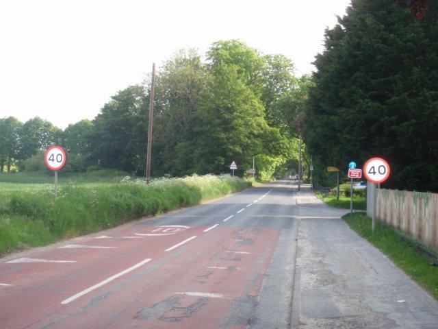 West Green 40mph Speed Limit