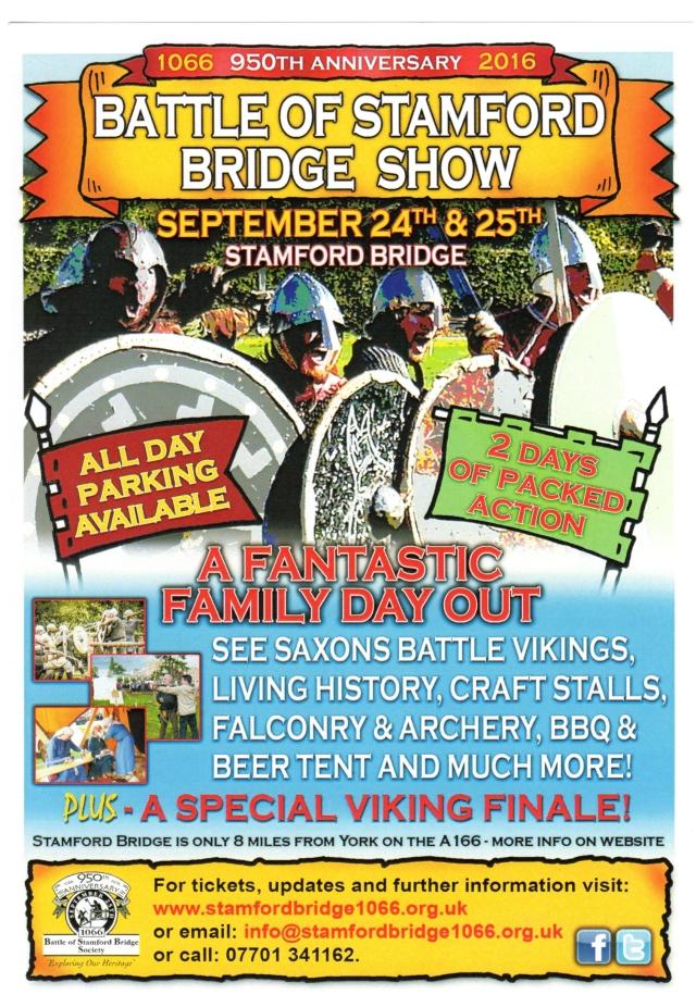 950 Battle Stamford Bridge Show Flier 240916   (2)