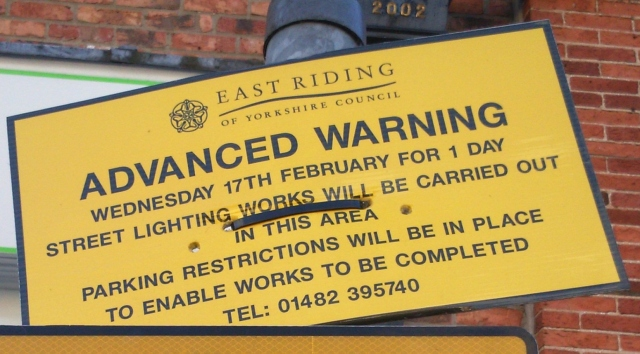 Advance Warning Sign To Be Removed | Andy Strangeway